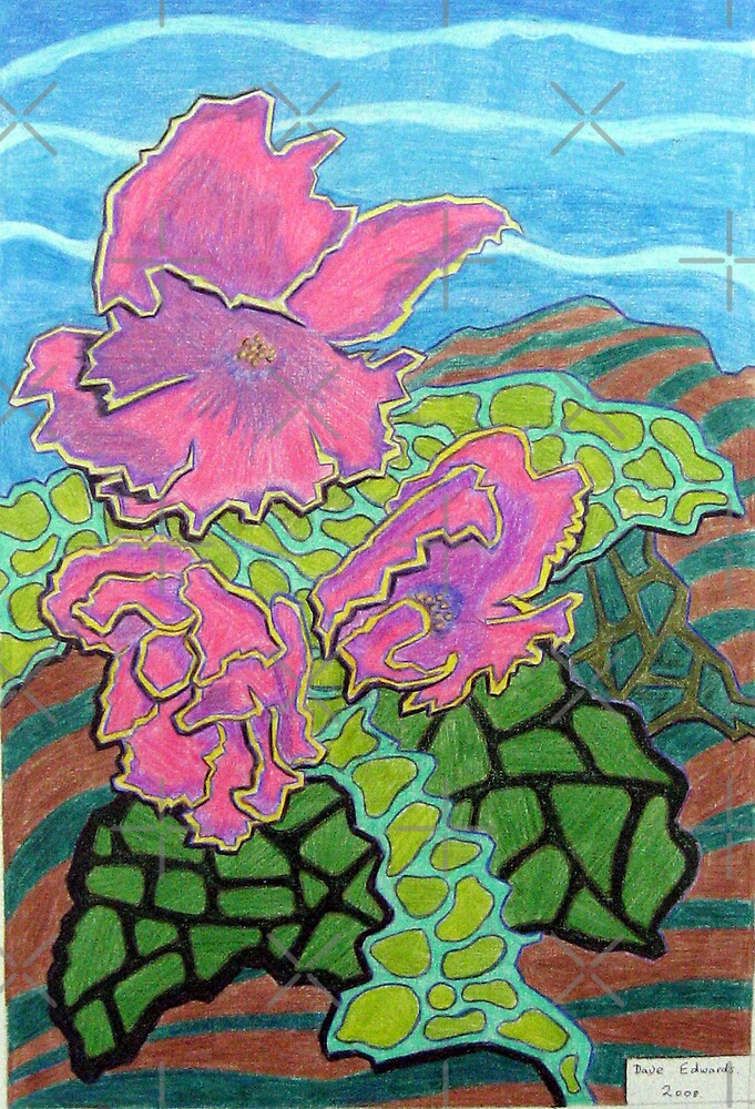 231 - FLORAL DESIGN - 03 - DAVE EDWARDS - COLOURED PENCILS - 2008 by BLYTHART