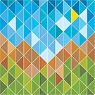 Mosaic 1496 - Landscape for Hipsters by Carl Huber
