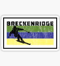 Breckenridge Colorado Skiing Retro Ski Breck Sticker