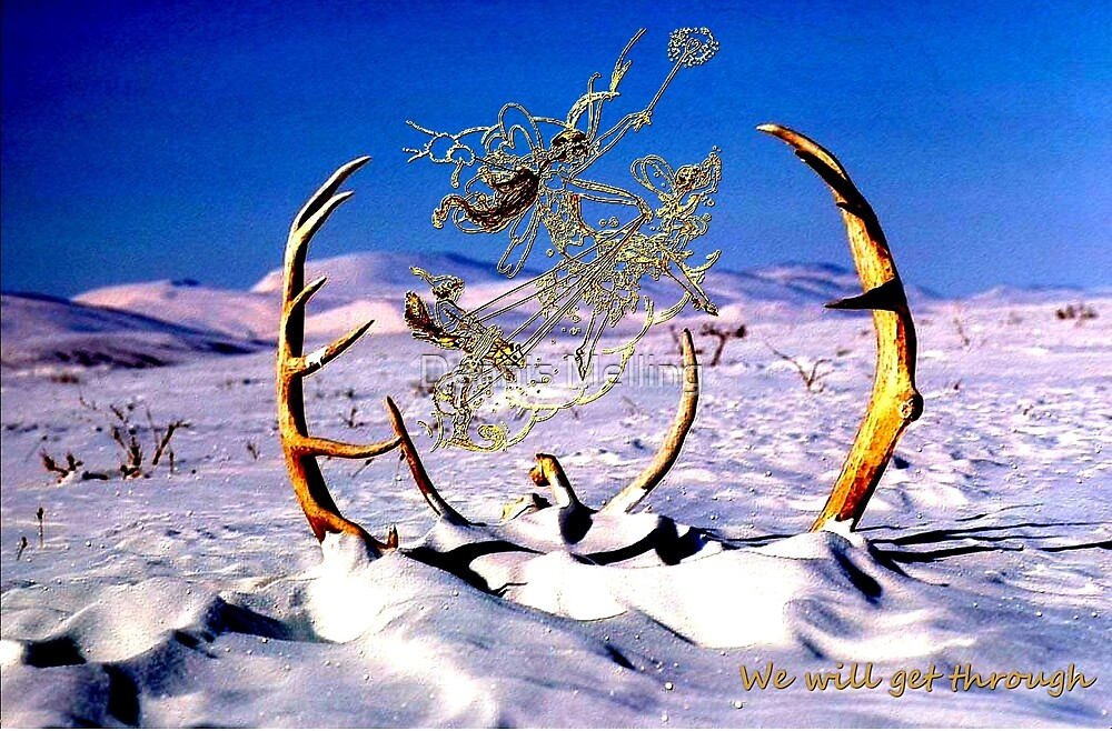 Fairies & Antlers at Christmas by Dennis Melling
