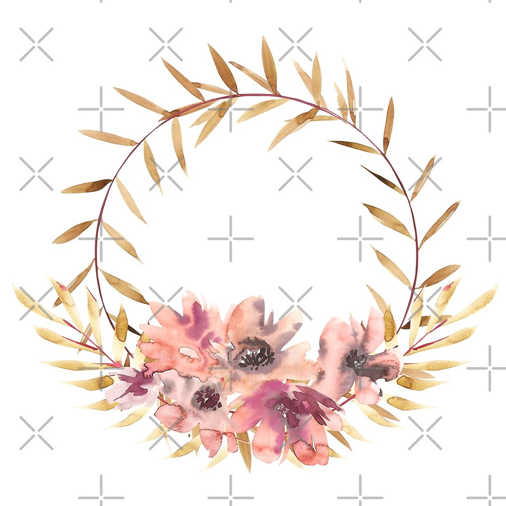 Flowers watercolor illustration02 by Asetrova