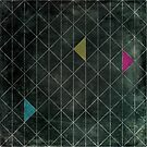 Mosaic 1497 - Dark Hipster Triangles by Carl Huber