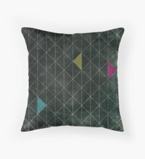 Mosaic 1497 - Dark Hipster Triangles Throw Pillow