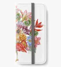 Botanical Watercolor Peacock  iPhone Wallet/Case/Skin