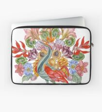 Botanical Watercolor Peacock  Laptop Sleeve