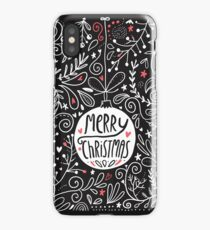 merry christmas doodles iPhone Case/Skin