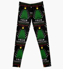 Nakatomi Corporation Christmas Party Snowflake Tower Leggings
