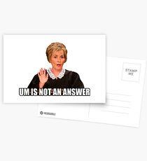 Um is not an answer Postcards