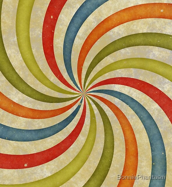 Psychedelic Retro Spiral by BonniePhantasm
