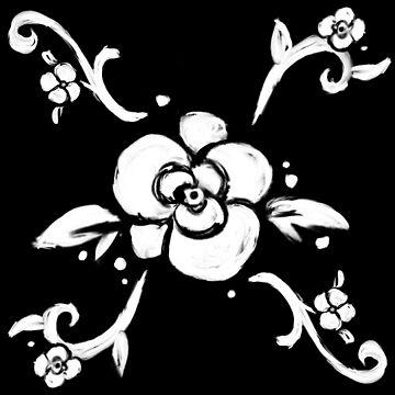 Patrón de flor blanca de skinnyginny