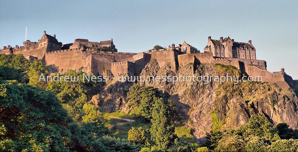 Basking in the Sun - Edinburgh Castle by Andrew Ness - www.nessphotography.com