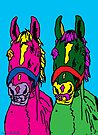 Pink Ant Green Horse  by Juhan Rodrik