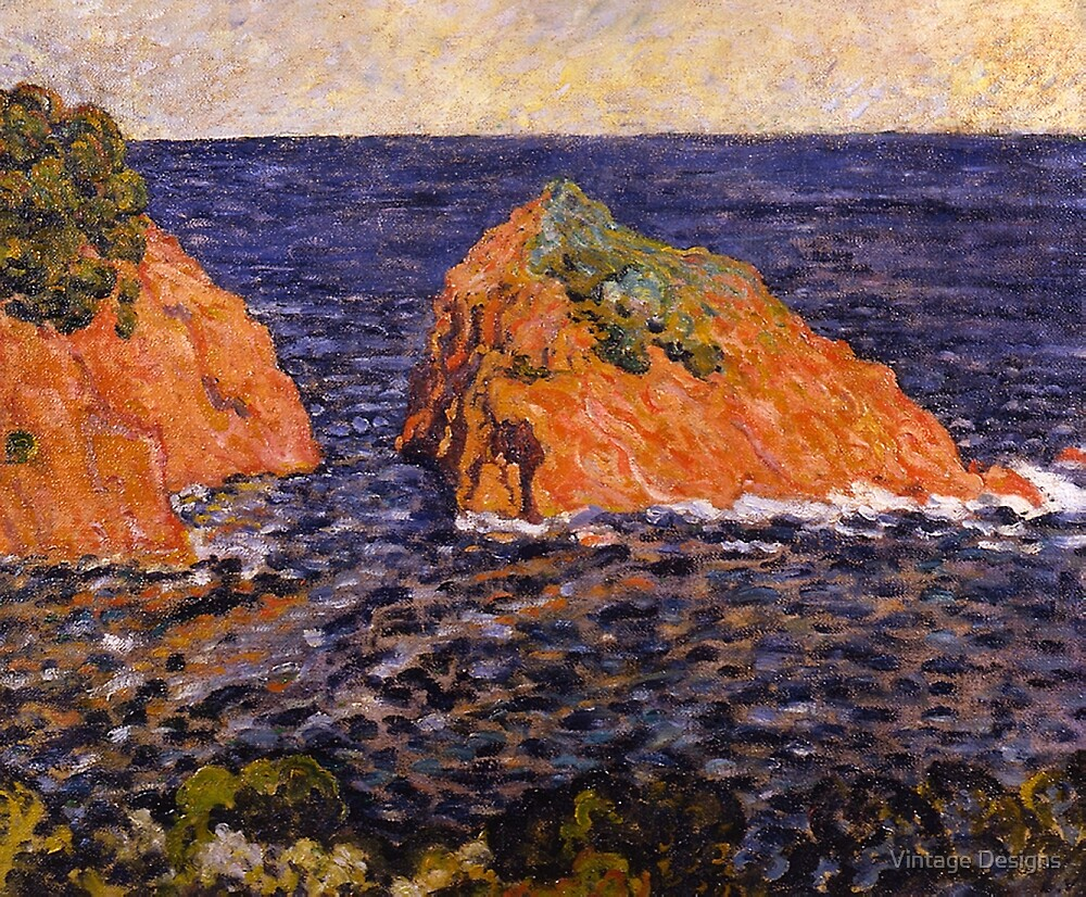 Louis Valtat  'Le Rocher dans la Mer' by Vintage Designs