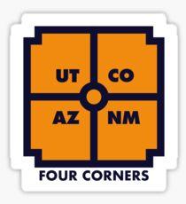 Four Corners - Blue and Orange Sticker