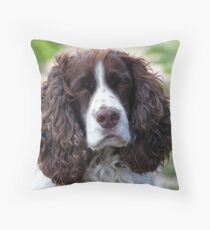 english springer spaniel Throw Pillow