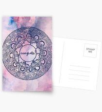 Congrats Mandala Postcards