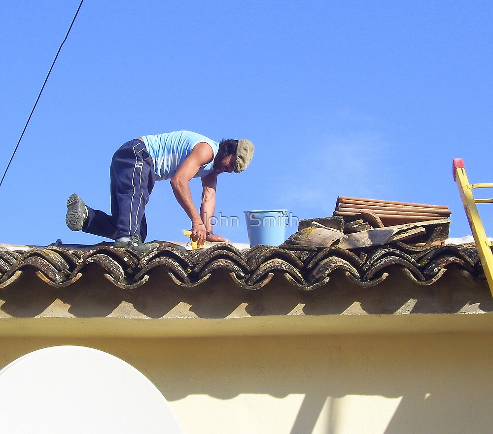 """""""The Roof Man."""" by John  Smith"""