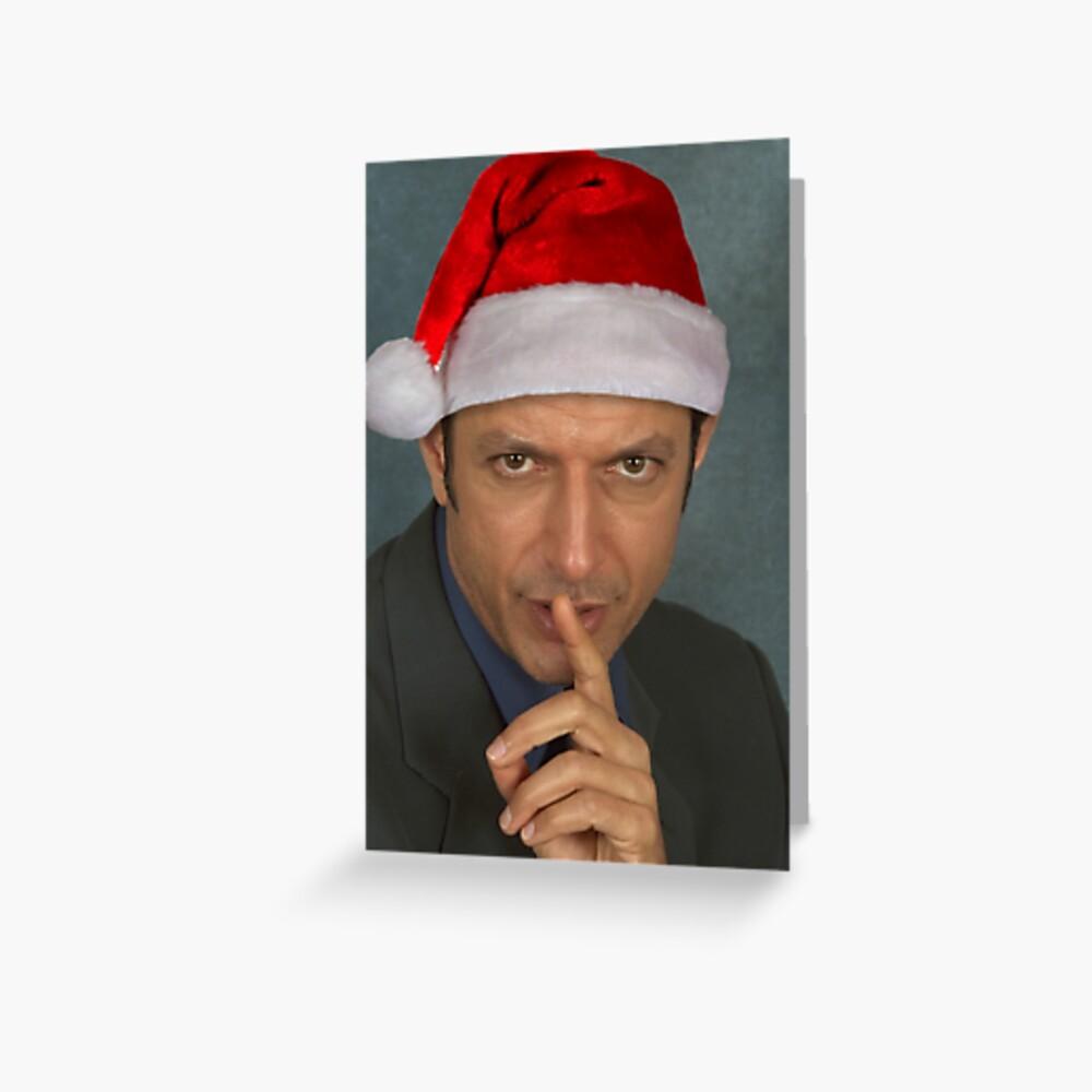 Christmas Jeff Goldblum Greeting Card