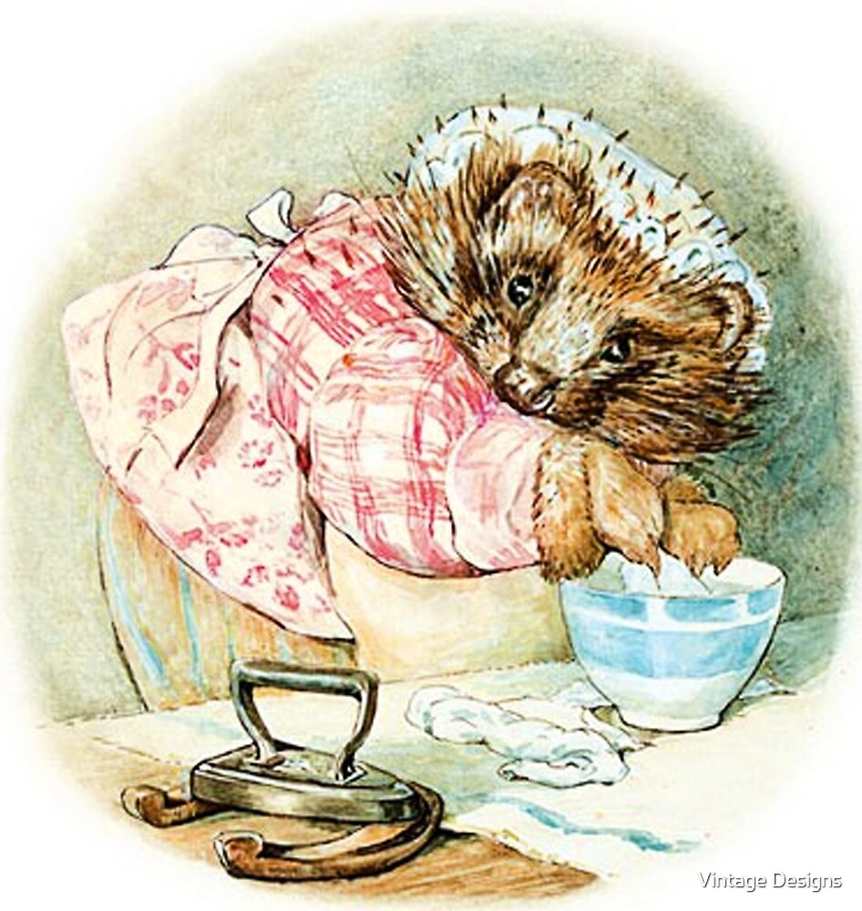 Mrs Tiggywinkle serving tea by Beatrix Potter by Vintage Designs
