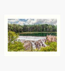 Dam on the Ottauquechee River Art Print