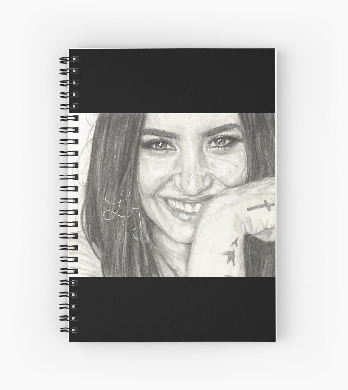 Demi Lovato Fan Art Spiral Notebook By Lisedraws