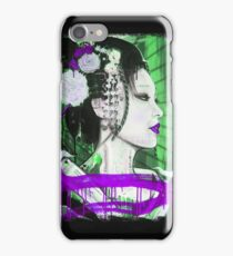 Geisha Phone Case (Purple & Green) iPhone Case/Skin