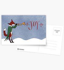 Christmas Fox Postcards