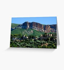 A Perched Vilage in Alpes-de-Haute-Provence, France Greeting Card