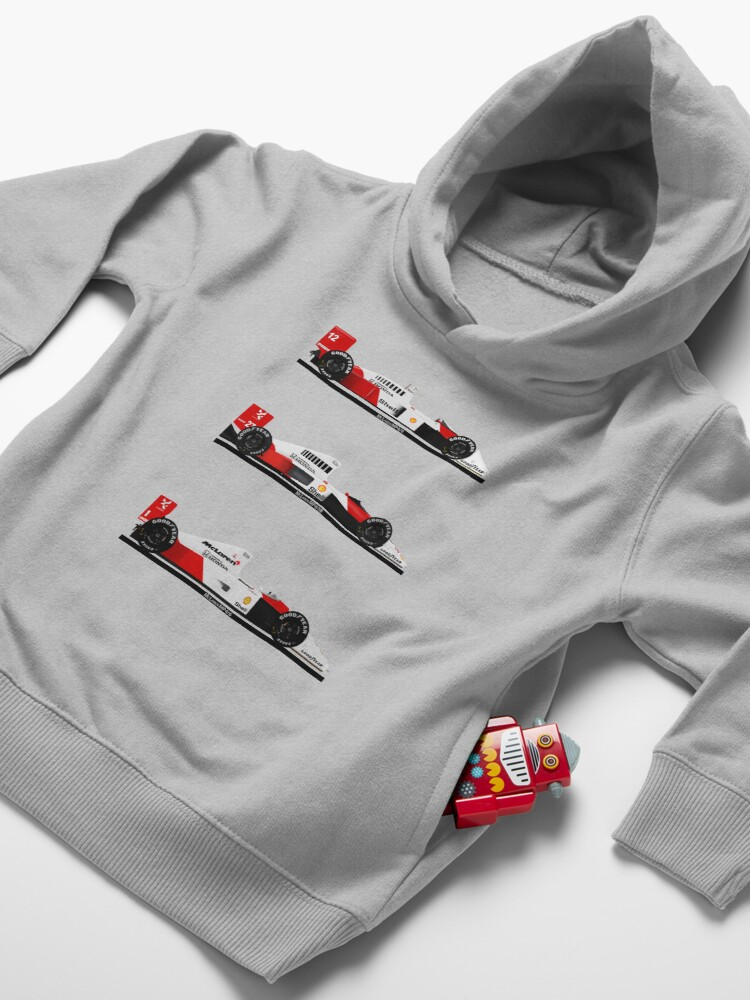 Alternate view of Ayrton Senna - Champion cars Toddler Pullover Hoodie