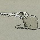 Pterosaur Skull Rat by Natalie Metzger