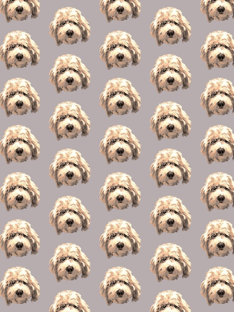 Lucky Labradoodle Face ~ Golden by Janeoooo