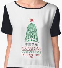 Nakatomi Corporation Christmas Party Tower Variant Women's Chiffon Top