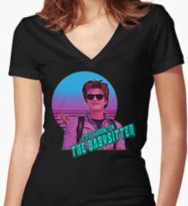 Stranger Things Steve Harrington The Babysitter  Women's Fitted V-Neck T-Shirt