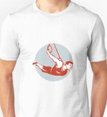 Crossfit Athlete Muscle-Up Gymnastics Ring Retro T-Shirt