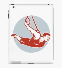 Crossfit Athlete Muscle-Up Gymnastics Ring Retro iPad Case/Skin