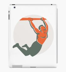 Crossfit Pull Up Bar Circle Retro iPad Case/Skin
