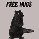 Free squirrel hugs by VisionQuestArts