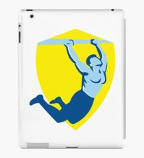 Crossfit Pull Up Bar Shield Retro iPad Case/Skin