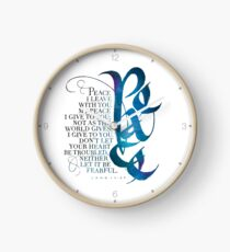 Peace I Leave With You Clock