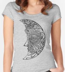 One moon Women's Fitted Scoop T-Shirt