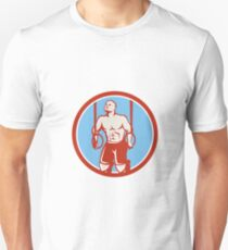 Cross-fit Ring Dip Circle Retro T-Shirt