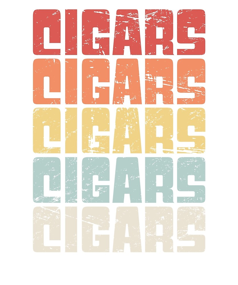 Vintage Retro CIGARS Text by Nathan Darks