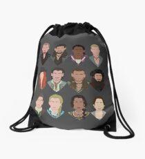 Black Sails characters (faceless) Drawstring Bag