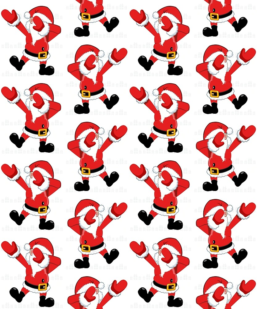 Dabbing Christmas Santa Claus on Ugly Sweater Funny Design by matthew001011