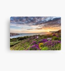 The Needles At Sunset Isle Of Wight Canvas Print