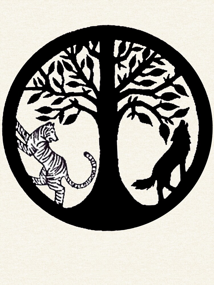 Tiger Tree and Wolf by Meow-Baby3