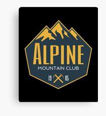Alpine Mountain Club Canvas Print