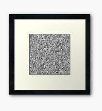 Binary Code Blue Background. Concept Numbers. Algorithm Decryption and Encoding. Framed Print