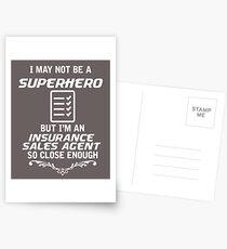 Not Superhero But Insurance Sales Agent Postcards