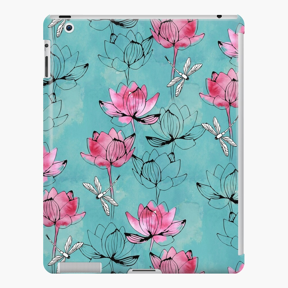Waterlily dragonfly iPad Case & Skin